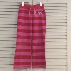 Mini Boden Red and Pink Striped Sweatpants